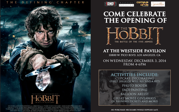 Westside Pavilion to Host <i>The Hobbit: The Battle of the Five Armies</i> Release Party!