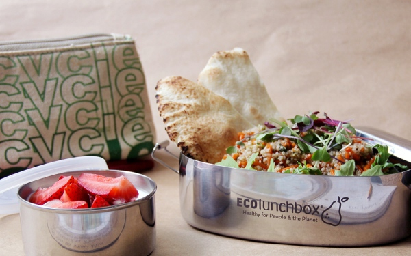 The ECOLunchbox is an eco-friendly food storage solution for people on the go
