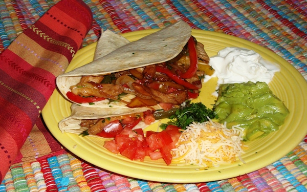 Fajitas a fun dish for the Super Bowl