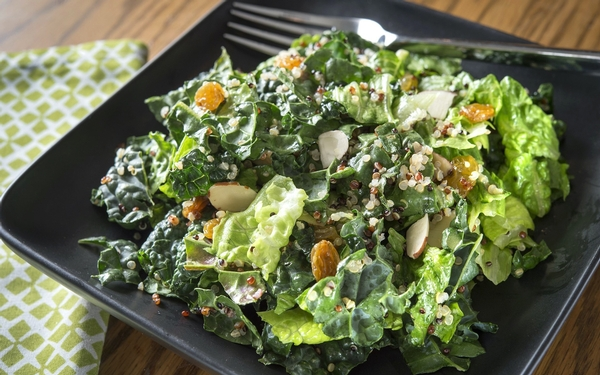 Quinoa kale salad keeps healthful eating resolutions on track