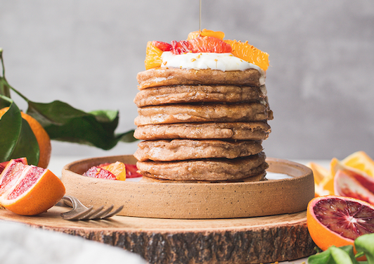 Vegan, gluten-free pancakes from Bakerita cookbook