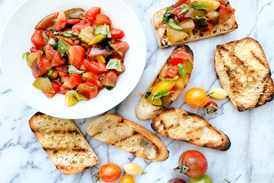 Tiny tomatoes make for the best bruschetta