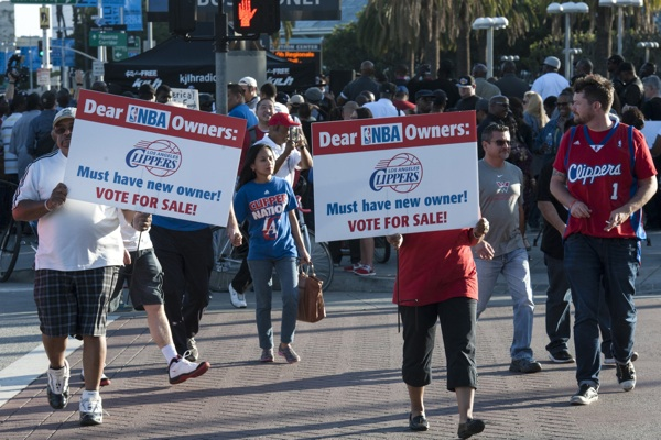 Los Angeles Clippers Protest