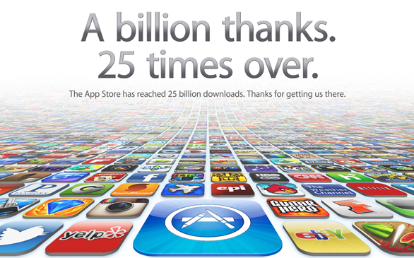 App Store at Apple Reaches 25 Billion Downloads