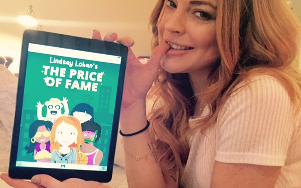 Lindsay Lohan's New App <i>The Price of Fame</i> is About YOU Becoming a Celeb