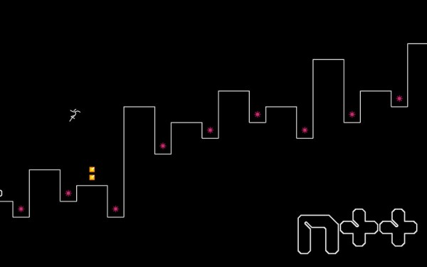 In the indie game 'N++' you get only one life -- and time is ticking