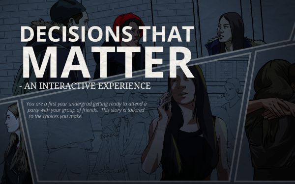 Gaming against sexual assault, with 'Decisions That Matter' and other video games
