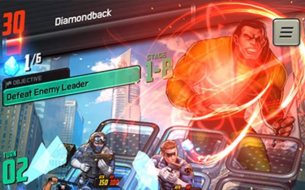 Trading card game features heroes and villains from the Marvel comic book universe