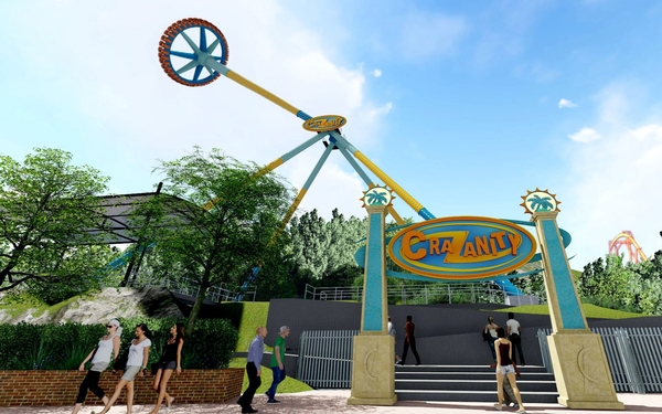 Planned ride at Six Flags Magic Mountain will swing you crazy fast at 172 feet in the air