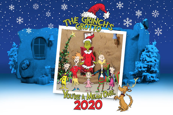 The Grinch Grotto for the Holidays at the Westfield Century City