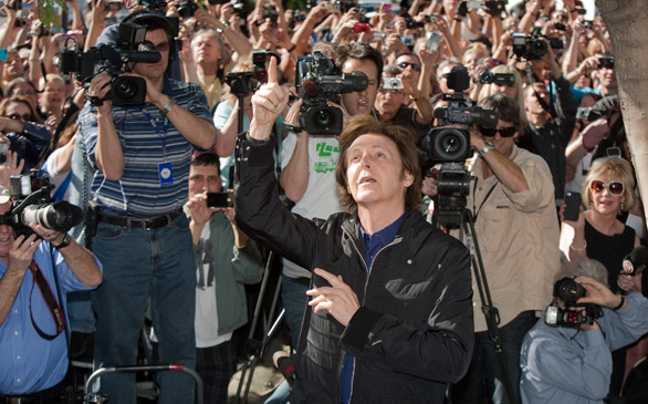 Paul McCartney Honored with Hollywood Walk of Fame Star