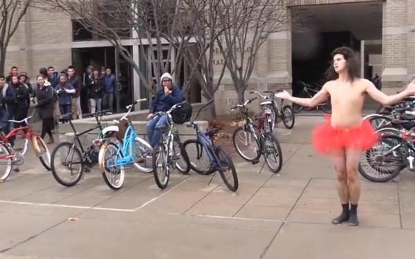 WATCH: Tutu-Wearing Notre Dame Student Reenacts Sia's 'Chandelier'