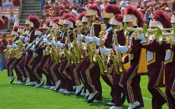 USC's marching band not for the timid, freshman finds