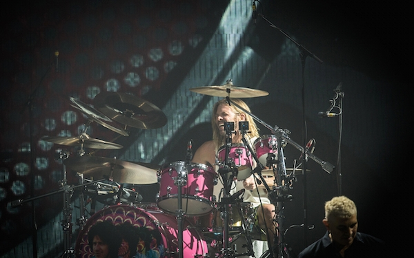 Taylor Hawkins, Foo Fighters drummer, has fun with classic rock