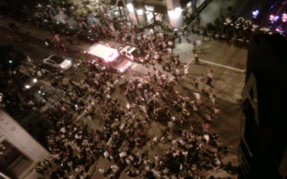 17 Arrested During ArtWalk Clashes in Downtown L.A.,