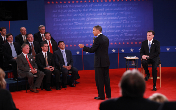 In Rematch, Obama and Romney Get Testy Over Jobs, Energy and Immigration