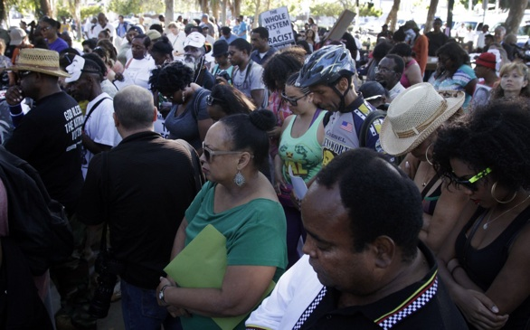 Peaceful Rallies Over Zimmerman Verdict Trial Turn Violent in L.A.