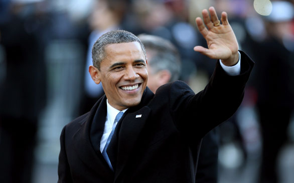 Obama Uses Inauguration to Spotlight Policy Pledges