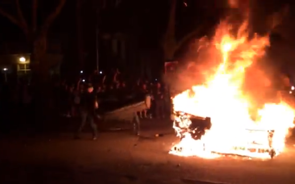 VIDEO: UW Students Set Furniture on Fire to Celebrate Seahawks' Super Bowl Win