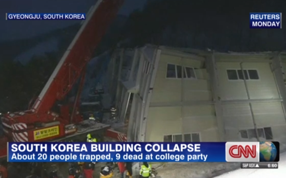 10 College Students Killed in South Korean Roof Collapse