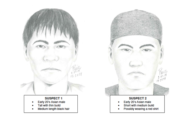 Sketches Released of Suspects in Gang Rape of UCSB Student