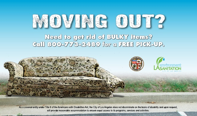 Moving Out? Need to get rid of bulky items? Call 3-1-1 to schedule a FREE PICK-UP.