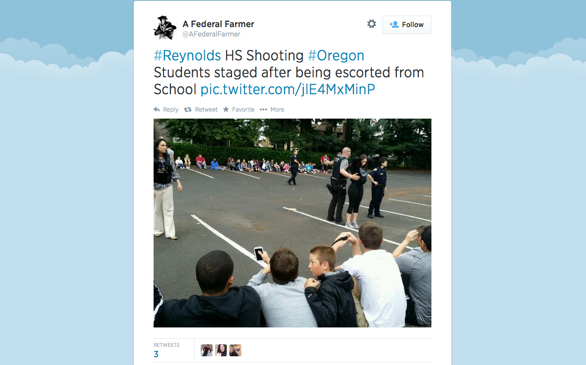 Another Campus Shooting, This Time at an Oregon High School