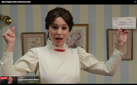 WATCH: Kristen Bell's Mary Poppins Wants Minimum Wage Reform in Funny or Die Skit