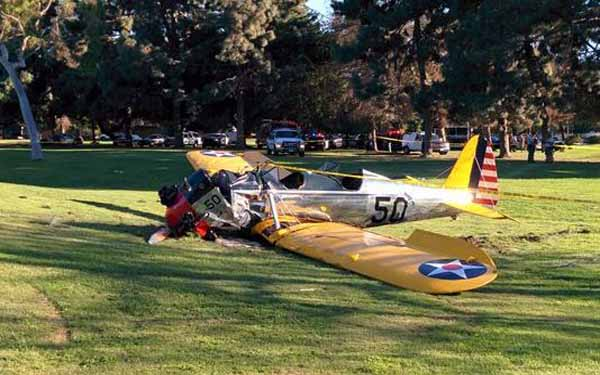 Harrison Ford recovering after crash landing plane on golf course