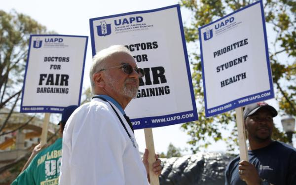 Doctors at University of California health clinics go on strike