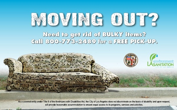 Moving out? Need to get rid of bulky items? Call 3-1-1 to schedule a FREE pick-up