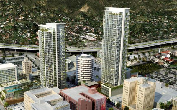 Hollywood skyscraper project near quake fault is focus of hearing