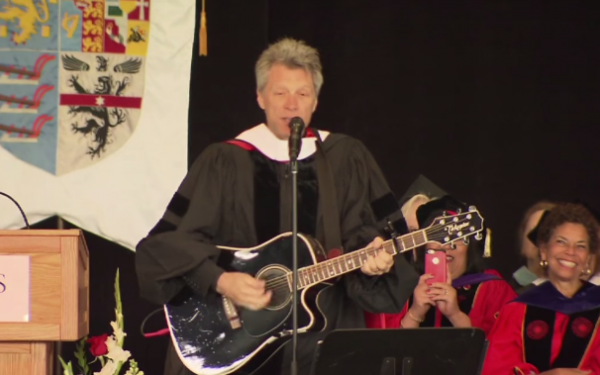 Jon Bon Jovi wrote a song for Rutgers' class of 2015