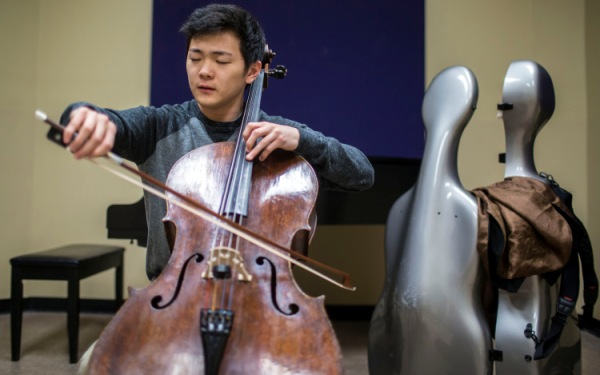 College cellist and half-million-dollar cello headed to elite competition in Russia