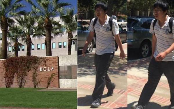 Sexual assault suspect groping women's thighs on UCLA campus