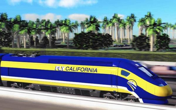 L.A. County communities protest planned bullet train route