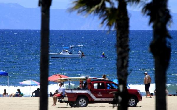 'Aggressive' shark bumps into surfer, prompting swimming ban in Huntington Beach