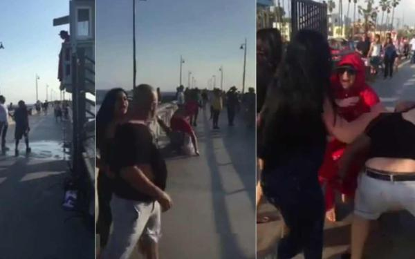 Attack on lifeguard at Venice Pier captured on video