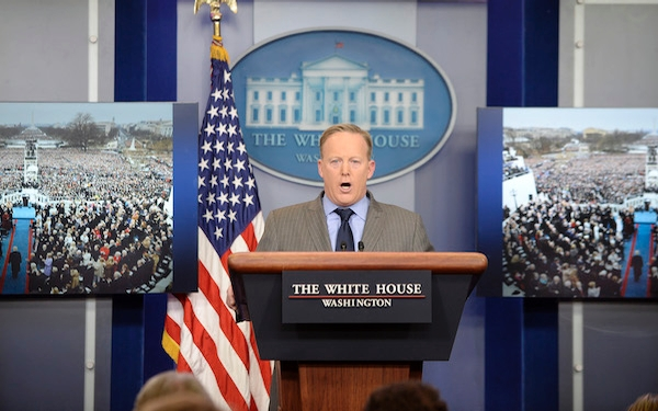 White House slams media for reporting size of inaugural crowd