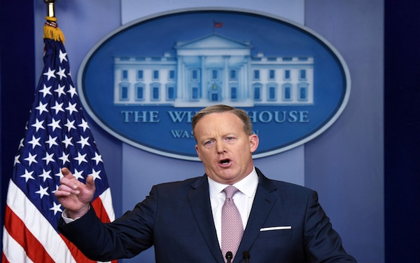 White House press secretary signals he'll be as sensitive to media coverage as his boss