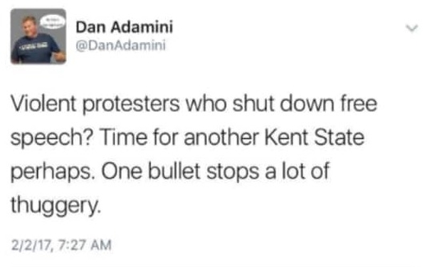 Michigan GOP leader apologizes for tweeting: 'Time for another Kent State'