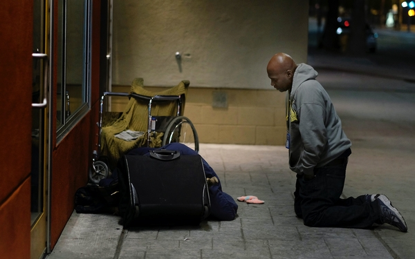 For people dying on L.A. streets, he offers help, and he won't take no for an answer