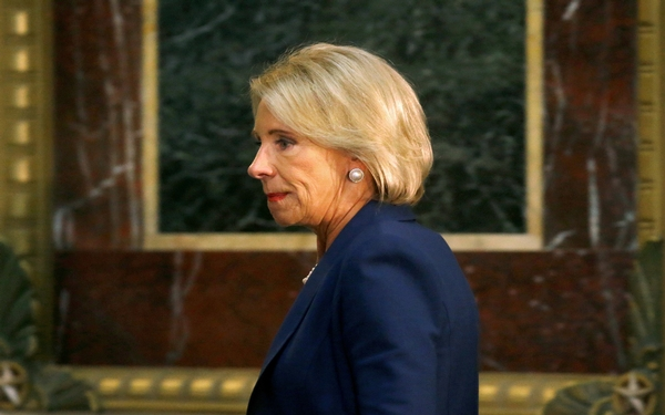 Betsy DeVos' proposal on campus sexual assault cases draws over 100,000 Responses