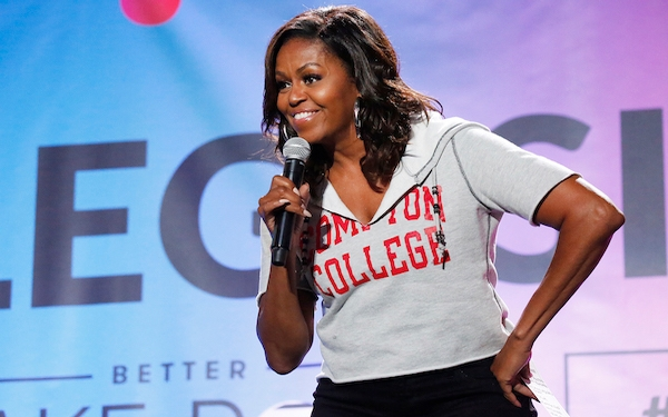 Michelle Obama, celebrities in tow, brings words of inspiration to students at UCLA