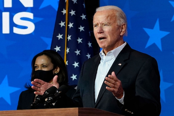 Biden urges calm, Trump falsely claims election stolen as Democrat moves closer to victory