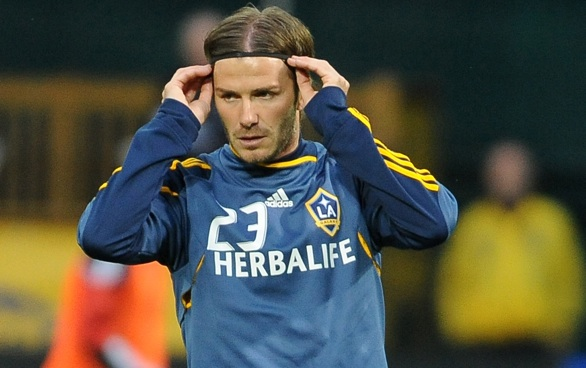 Beckham Makes It on Time, Club Still Loses