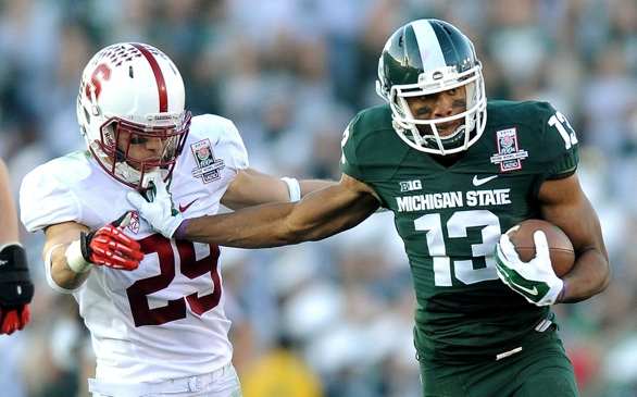 Rose Bowl: No. 4 Michigan St. Won't Give an Inch, Beats No. 5 Stanford