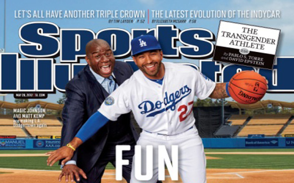 Magic Johnson, Matt Kemp on Cover of <i>Sports Illustrated</i>