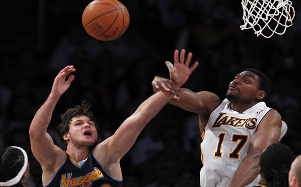 Andrew Bynum Records Triple-Double, Including 10 Blocks