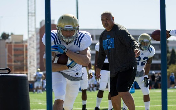 UCLA Assistant Kennedy Polamalu Gets Bruins Backs Up and Running